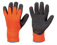 Winterhandschuh4 - STRONG HAND  Rasmussen Winterhandschuh Latex Thermo orange - Stichschutzhandschuhe
