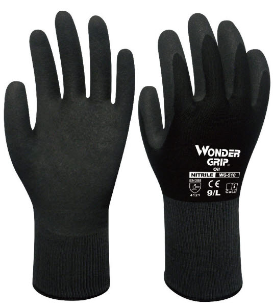 Wondergrip Oil – Nylon-Strickhandschuh mit Nitril